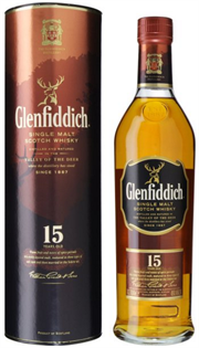 Glenfiddich Scotch Single Malt 15 Year Unique Solera...
